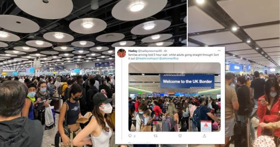 Chaos at Heathrow as families queue for 'over three hours' to enter UK