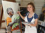 Makenzy, 14, took up painting in lockdown in her shed - Now her art is on show at the Royal Academy