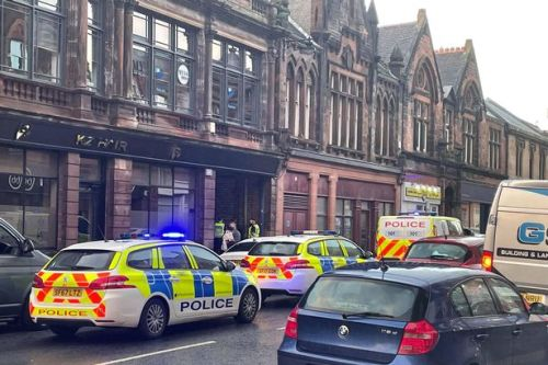 Kilmarnock's busiest street swarming with police during rush hour