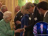 'I saw you on the telly!' Queen recognises John Kerry from Prince 'William's Earthshot prize thing'