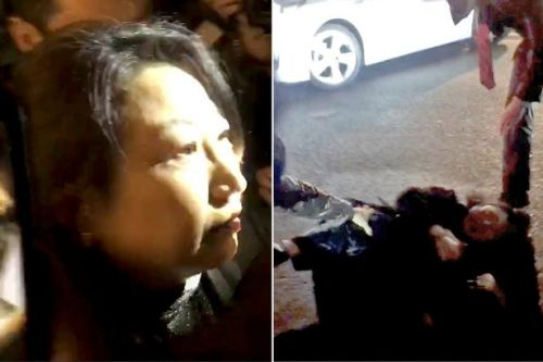 Mob shoves Hong Kong's justice secretary to floor in London street 'attack'