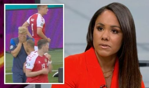Alex Scott fights tears as she reacts to Christian Eriksen collapse 'I can't believe it'