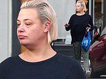 Lisa Armstrong goes make-up free as she stocks up snacks. amid ongoing divorce with Ant McPartlin