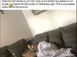Couple wake to find a STRANGER asleep on their sofa after helping himself to a bowl of cereal