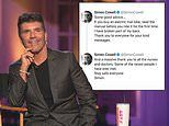 Simon Cowell tweets from hospital bed after breaking back in fall from new electric bike