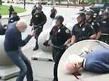 Two Buffalo police officers are suspended after video shows them shoving elderly man to ground