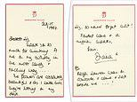 Princess Diana's handwritten letters are set to fetch $20,000 at auction