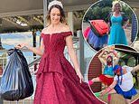 Bored Australians dress up to take the bins out because it's the only 'outing' they're allowed to do