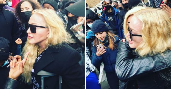 Madonna surprises protesters by joining the crowd for Black Lives Matter march in London