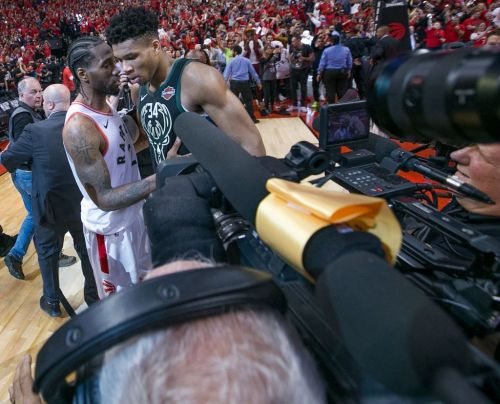 Kawhi Leonard reveals what he told Giannis Antetokounmpo after Raptors win and reacts to making NBA Finals