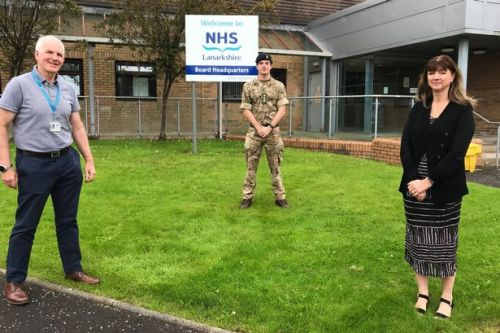 NHS Lanarkshire give farewell salute to British Army following Covid-19 assistance