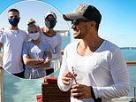 Peter Andre takes the ferry to France with children Junior, 15, and Princess, 13
