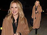 Kylie Minogue, 52, looks effortlessly stylish in a brown trench coat as she heads home from Radio 1