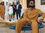 Tinie Tempah dons a quirky orange checked outfit as he attends NFT focused art residency in France