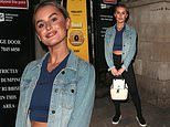 Amber Davies flaunts her toned stomach in cropped top and leggings as she leaves 9-5: The Musical