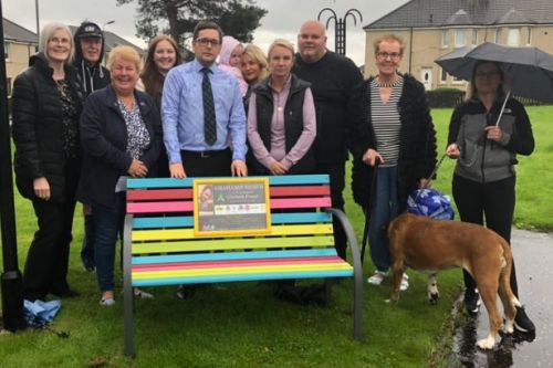 """""""Idiots"""" vandalise two rainbow benches dedicated to memory of late Wishaw dad"""