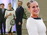 Sarah Jessica Parker and Jon Tenney film night scene of SATC reboot And Just Like That