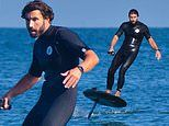 Brody Jenner shows off his foilboarding skills in Malibu. after sparking romance rumours