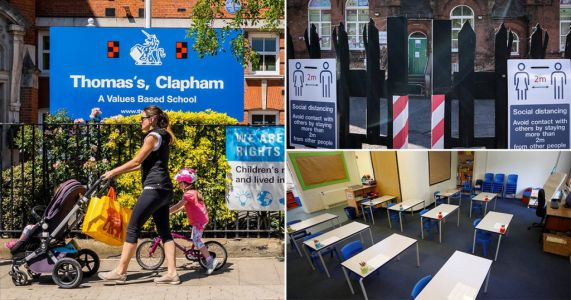 Children return to classes in England as lockdown eases