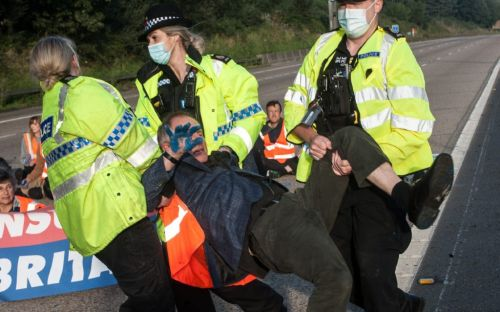 Arrests following fifth M25 protest by Insulate Britain to block the motorway