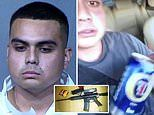 Gunman hit with 15 charges including assault with deadly weapon after he opened fire on Arizona mall