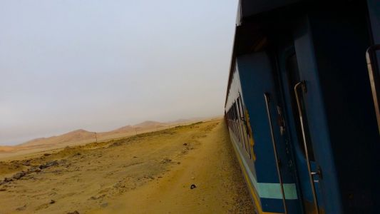 I woke up on a train in the middle of the Namibian desert on Christmas Day, and the staff at my hotel even invited me to dinner
