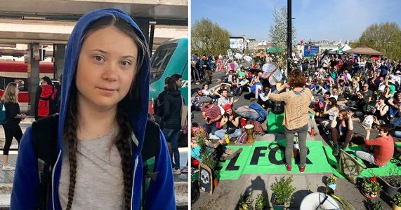 Greta Thunberg on two-day train journey to join Extinction Rebellion in London