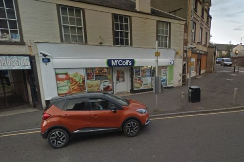 Thug threatens Scots shop staff with knife during terrifying armed robbery