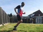 Runner completes a MARATHON in his own back garden so his training doesn't go to waste