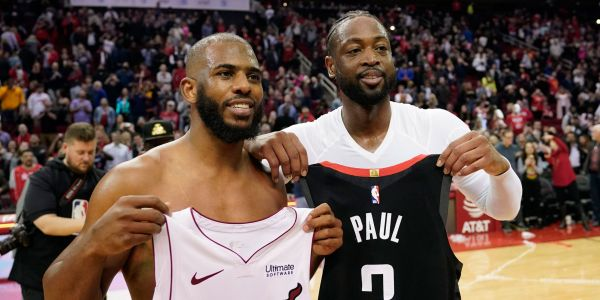 Dwyane Wade joked that his jersey-swaps from last season are suddenly irrelevant after so many stars switched teams