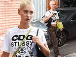 Iris Law dons ab-flashing low rise jeans as she steps out at Milan Fashion Week
