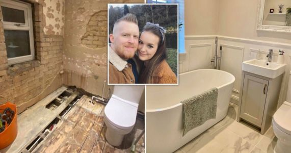 Couple save £3,500 on bathroom transformation by doing it all themselves