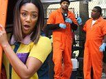 Tiffany Haddish films a scene with Tracy Morgan and Method Man for The Last OG in NYC