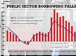 Britain's public sector borrowing falls to its lowest rate since the 2007 financial meltdown