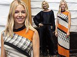 Sienna Miller catches the eye in a multi-patterned dress at The Loudest Voice photocall in NYC