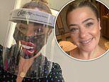 Lisa Armstrong returns to work in Louis Vuitton inspired face mask and PPE shield