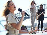 Delta Goodrem at a preview performance for the Australia Day festivities at the Sydney Opera House