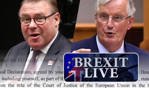 Brexit LIVE: Michel Barnier mocks Brexiteer with spiky letter DRIPPING with sarcasm