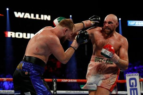 Tyson Fury sends message to Deontay Wilder after surviving Otto Wallin scare in Las Vegas