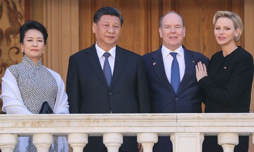 Celebrity daily edit: Loved-up Princess Charlene and Prince Albert host Chinese President, Fleur East engaged - video