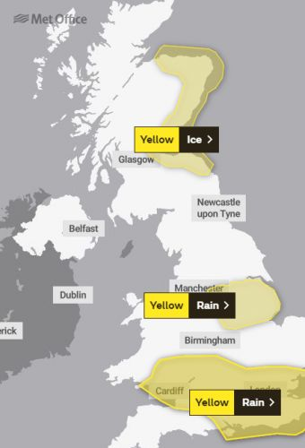 UK weather forecast - Half a month's rain to fall TOMORROW with 'danger' flood warnings issued from London to Scotland
