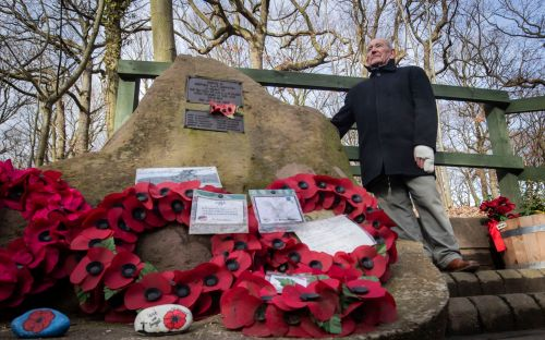 Pensioner who tends to memorial of US airmen who saved him arranges flypast to mark 75th anniversary