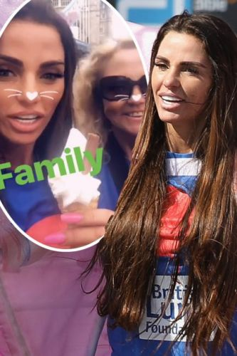 Katie Price breaks silence with video after 'pulling out' of London Marathon - as she enjoys ice cream with mum Amy