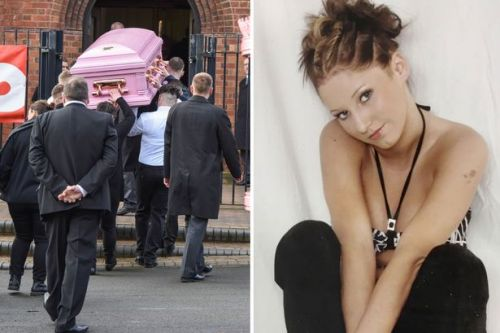 Lavish pink funeral for mum, 31, found dead on sofa is attended by 140 relatives