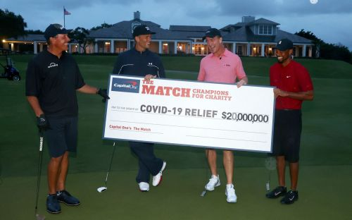 Tiger Woods and Peyton Manning beat Phil Mickelson and Tom Brady as £16m raised for charity