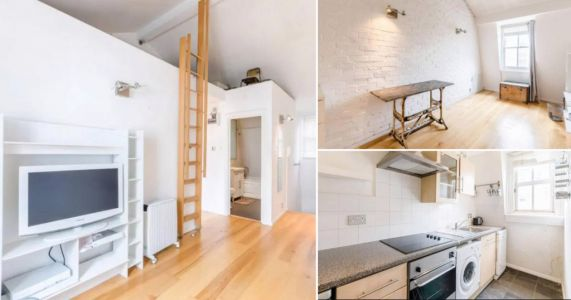 London flat up for rent for £2,800 a month needs you to clamber up a ladder to reach the best sleeping space