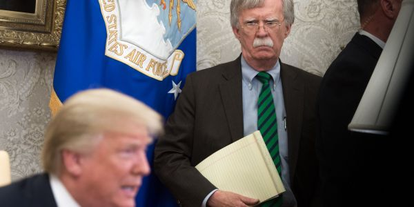 Trump slammed John Bolton for writing 'nasty & untrue book,' and said we'd be in 'World War Six' if he hadn't fired him