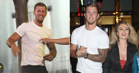 Smiling Dan Osborne pictured getting close to Natalie Nunn on night of alleged threesome with Chloe Ayling as he denies cheating on Jacqueline Jossa