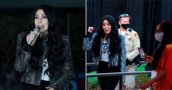 Cher becomes Joe Biden's personal cheerleader as she campaigns in Vegas ahead of presidential election