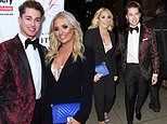 Strictly's Saffron Barker cosies up to dance partner AJ Pritchard at Global Gift Gala